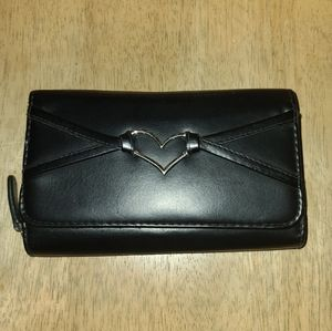 Leather Heart Accent Wallet